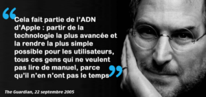 Steve Jobs citation The Guardian