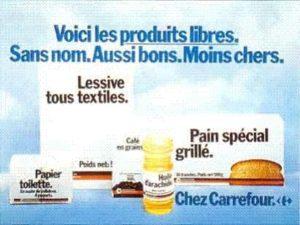 Carrefour produits sans marque années 70