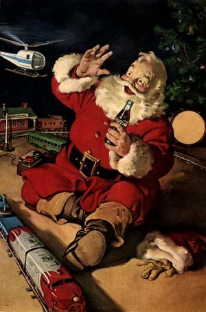 Affiche Coca Cola pub Noël années 30