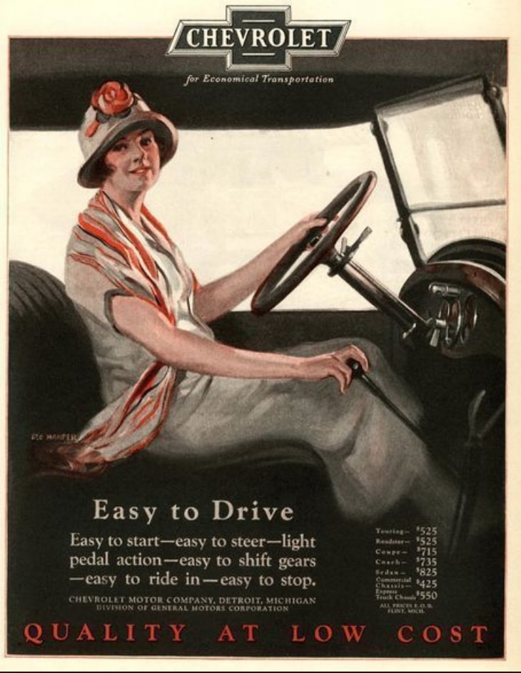 Pub Chevrolet années 20 USA