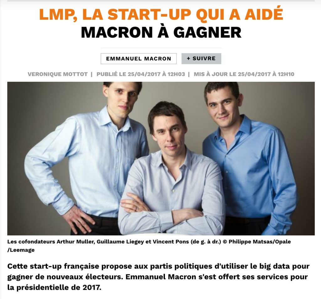 LMP, start-up dans le big data
