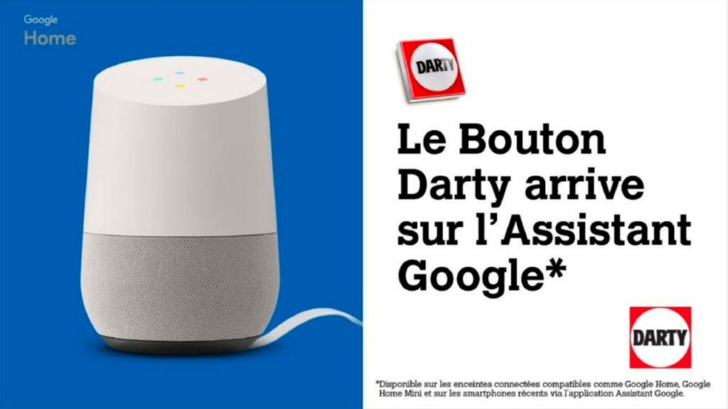 Google Home Bouton Darty